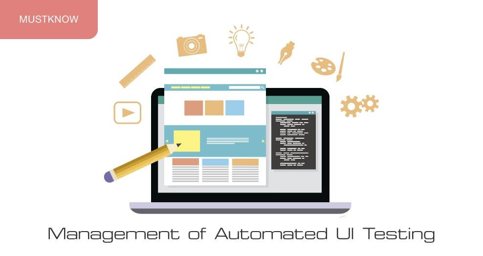 Management of automated UI testing