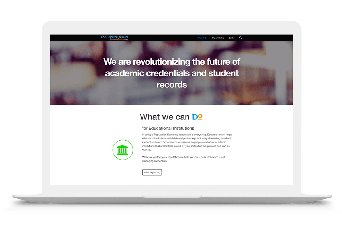 Documentorum – blockchain for credentials